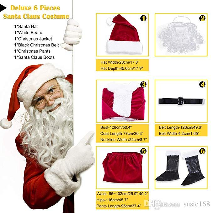 Adults Red White Santa Claus Stretchy Skin Suit Xmas Fancy Dress Costume