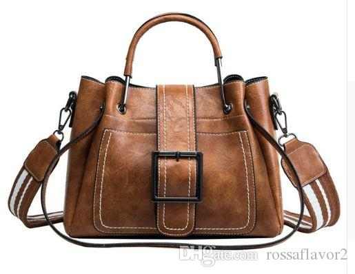 Melhor Venda de Sacos Para As Mulheres Nova Moda PU Bolsas De Couro Crossbody Bag Para As Mulheres Do Vintage Balde Bolsa de Ombro Bolsa Das Senhoras Frete Grátis