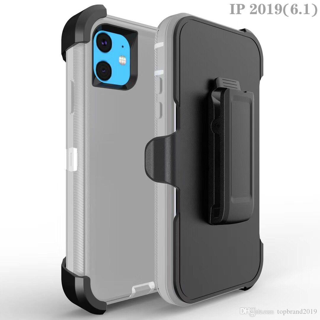 hot sell box case Defneder For iphone11 Samsung Cell Phone for iphone 11pro xs 8 Plus S8 plus Note10 Steel Armor TPU PC Covers Cases Shell