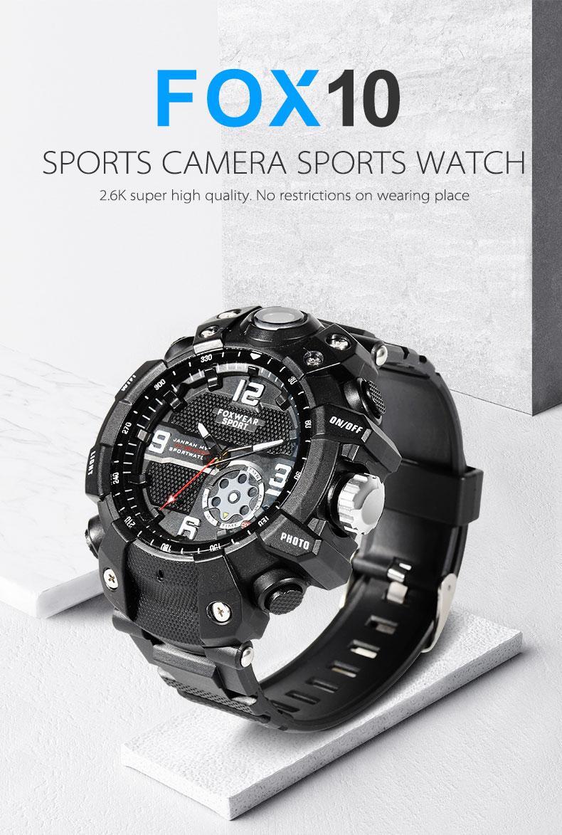 FOX10 WIFI Sport vigilanza della macchina fotografica di Wifi a distanza della macchina fotografica di grande capienza 32GB 64GB HD 2K 1080P orologio impermeabile fotocamera intelligente vigilanza DVR IP67