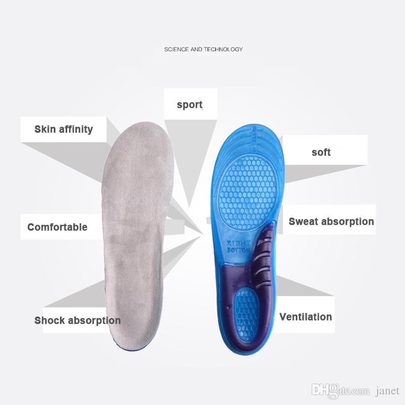 Soft Comfortable Transparent Anti Slip Sandals Gel Cushion Insoles Shoes Inserts