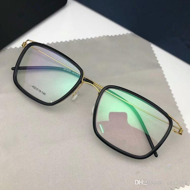 Handmade 6062 rectangular EYEWEAR frame no-screw 52-19-145 ultra-light HI-RX prescription glasses full-set case