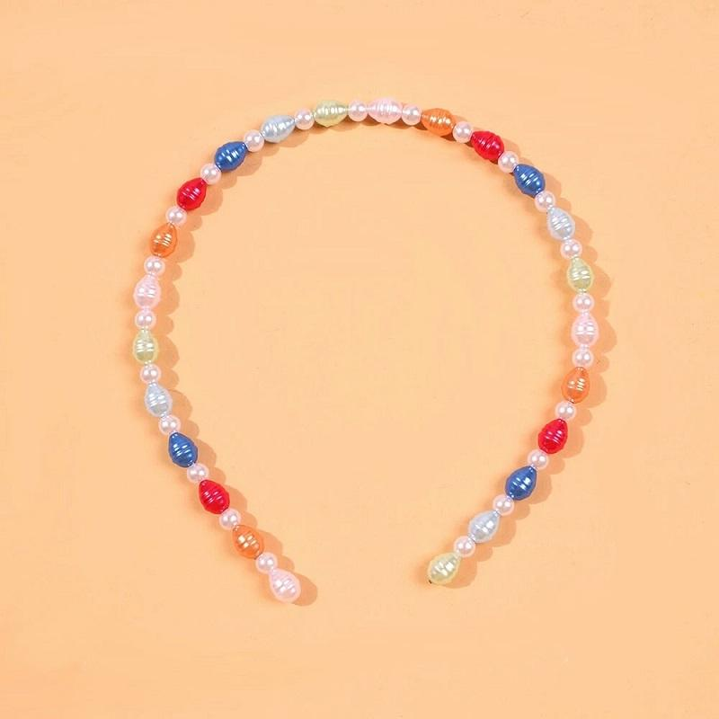 colorful pearl headbands for women luxury designer Baroque pearls headband bohemian style bride hair band jewelry accessories gf love gift