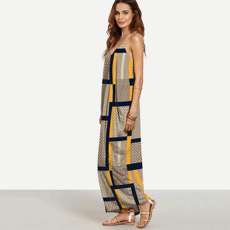 여성 그레이스 빈티지 여름 드레스 민소매 보헤미안 캐주얼 롱 맥시 sundress에 대한 여성의 높은 허리 숙녀 드레스