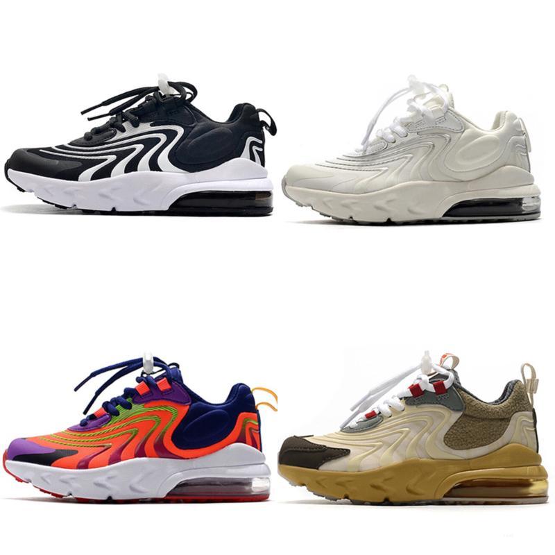 Nike air max 270 2020 Pirata preto V3 crianças tênis de basquete crianças correndo moda duráveis e com boa aparência-sapatos Presente de aniversário Tamanho 28-35