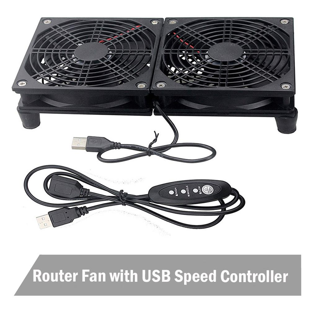Router fan DIY PC Cooler TV Box Wireless Cooling Silent Quiet DC 5V USB power