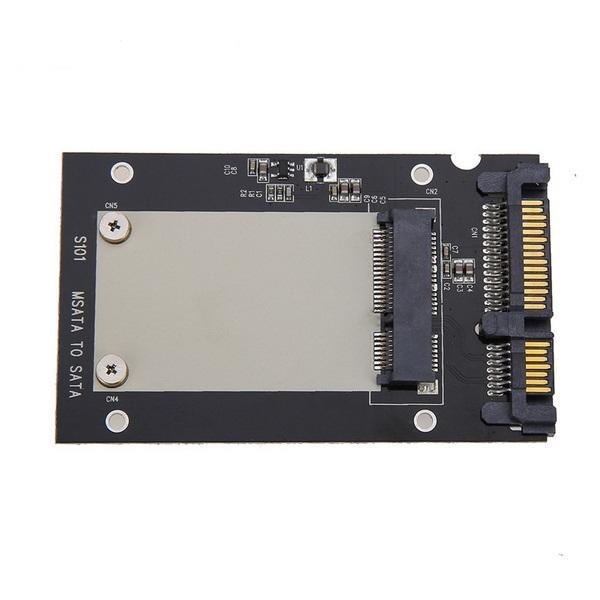"2PCS MSATA SSD to 2.5/"" SATA III Convertor Adapter Card Enclosure SSD Solid State"