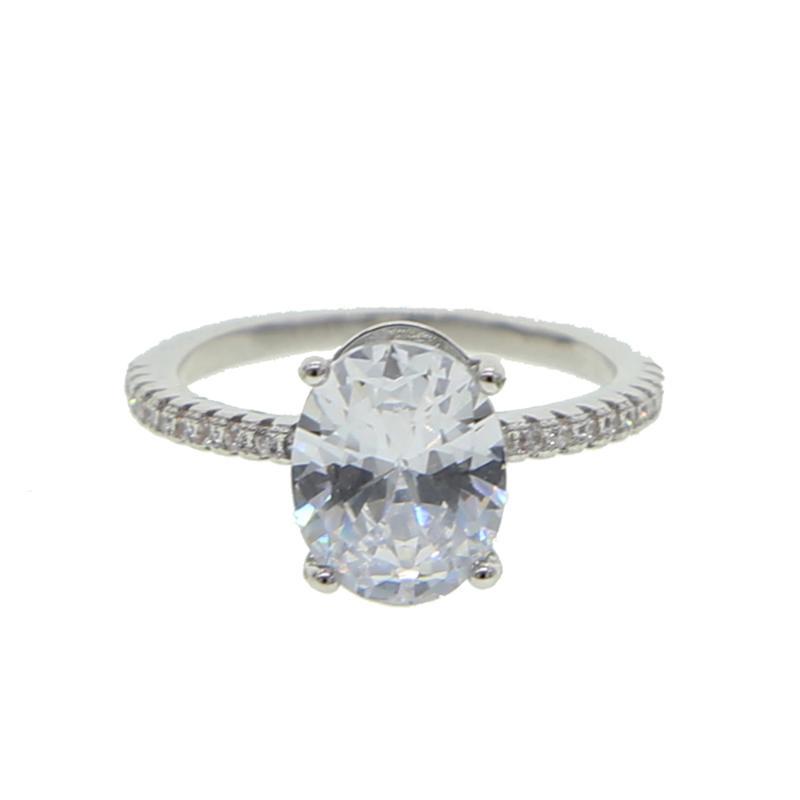 Блестящая искрение шик CZ группа овальной формы белого ясное кольца CZ свадебного для великолепных женщин пальца обручального кольца ювелирных изделий
