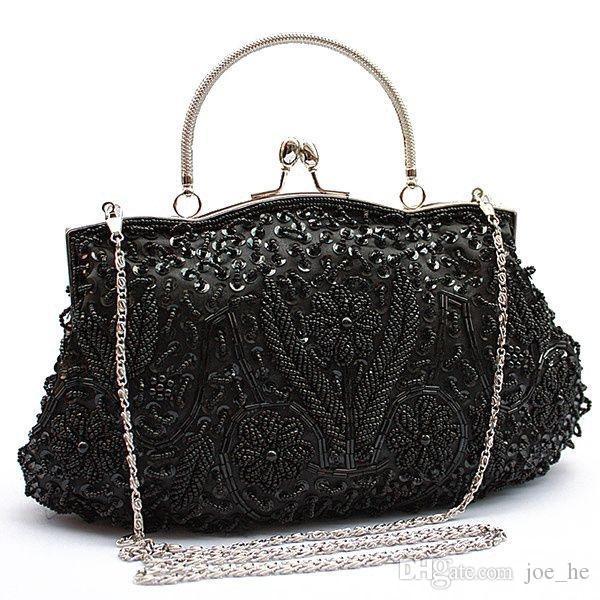 Designer- Boutique Femmes Marque Polyester perlé sac à main dames soirée de mariage de bal élégante Bourse d'embrayage sac de soirée pour femmes Girls # 88657