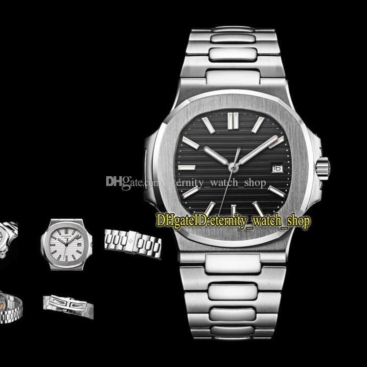 5-color v3 edição esporte nautilus 5711g mostrador preto cal.324 sc automático 5711 1a 010 homens relógio caso de aço em forma de v safira relógios de luxo