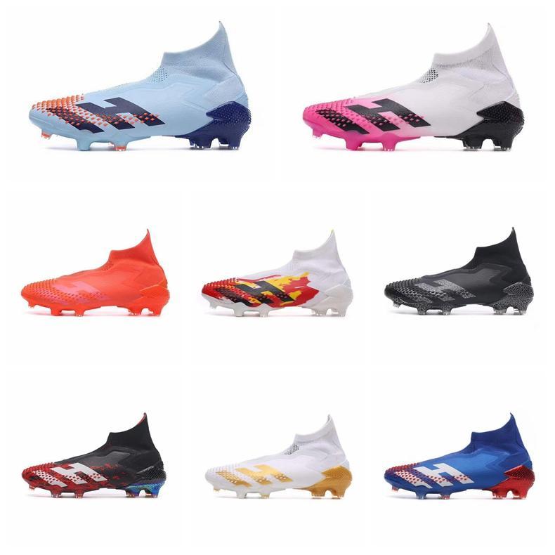 2020 Nuovo calcio dei morsetti dei nuovi uomini Messi Predators modificatori 20 scarpe da calcio FG Nucleo Nero Bianco Active Red Designer Football Shoes