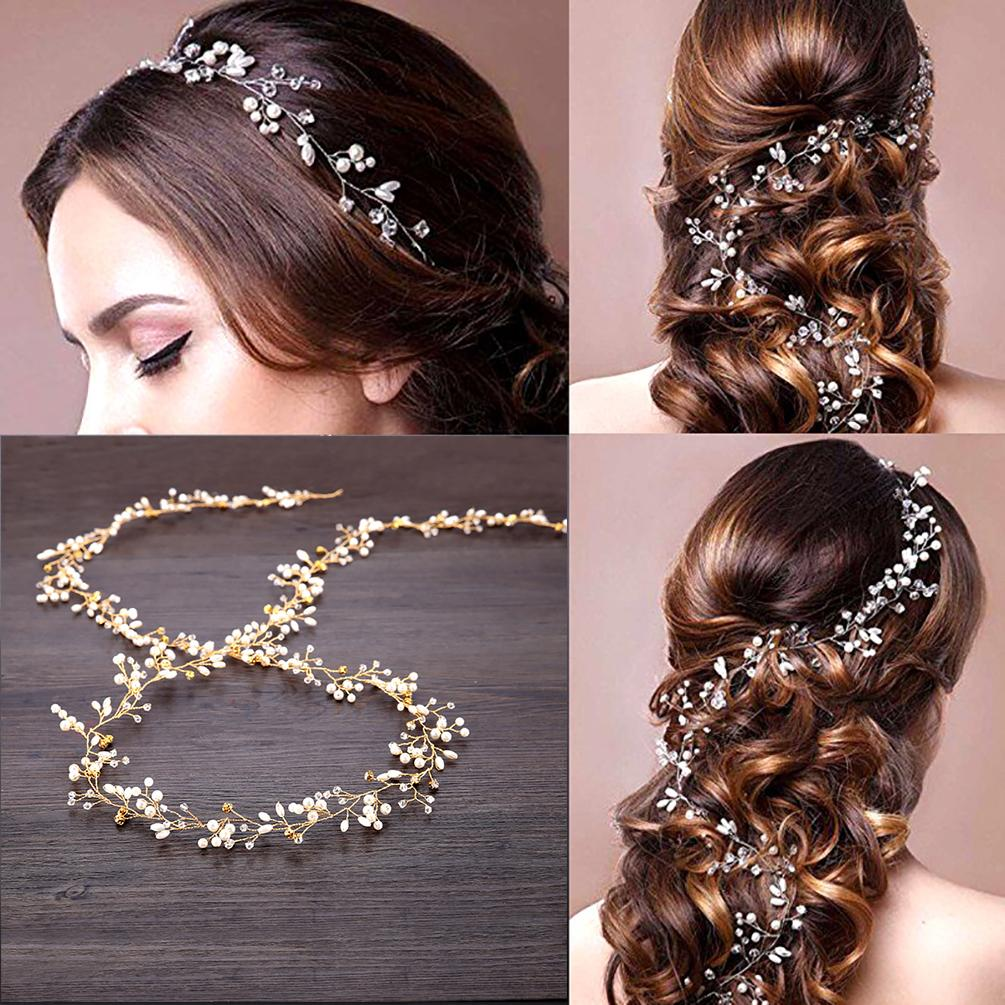 UNISTYLE Wedding Hair Vine Crystal Head Vine Bridal Hair ...