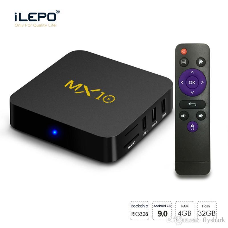 MX10 Android 9.0 TV BOX RK3328 Quad Core 4GB 32GB 4K Smart Media Player TX3 MINI MXQ PRO