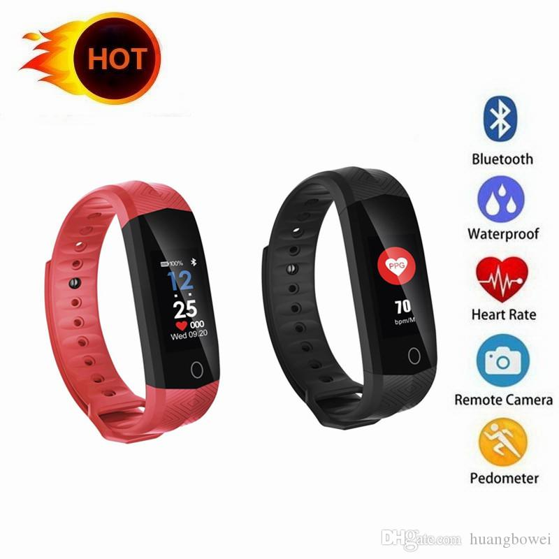 50X CD02 Waterproof Fitness Bracelet GPS Bluetooth Color Lcd Screen Sport Wrist Band Smart watches Heart Rate Tracker DHL