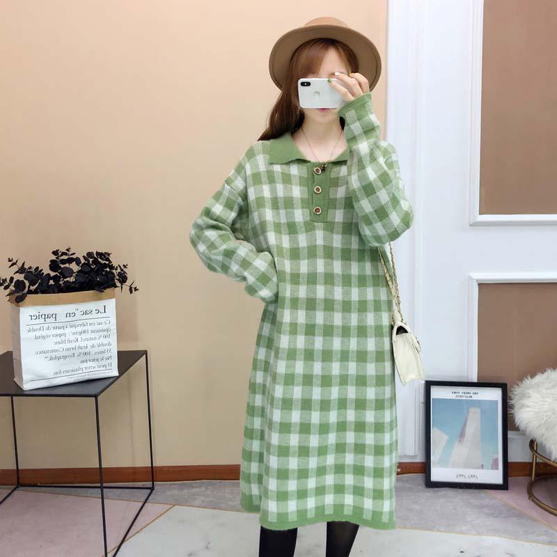 Kış Elbise Hamile Kazak Hamile Triko Hamilelik Örme Bayan Giyim M191