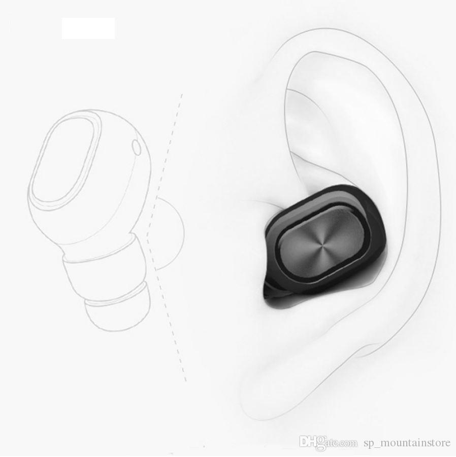 Q1 Q26 K8 mono small stereo earbuds hidden invisible earpiece micro mini wireless headset bluetooth earphone headphone for phone (Retail)