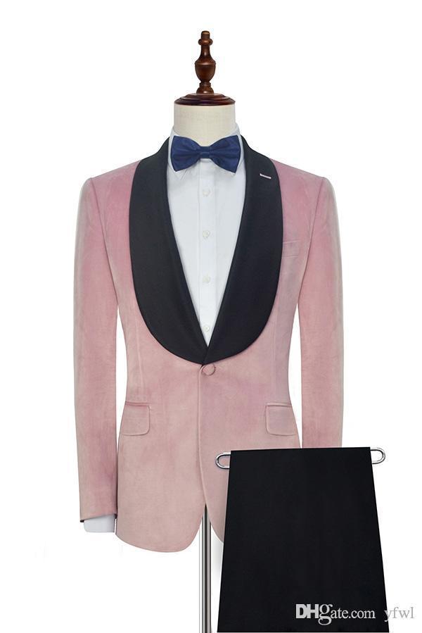Classic Velveteen smoking abiti da sposa sposo abiti da uomo mens smoking di cerimonia nuziale costumi de fumo pour hommes uomini (Jacket + Pants + Tie) 73