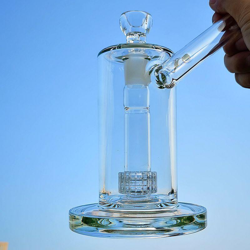 뫼비우스 매트릭스 유리 봉 사이드카 고유 한 기억 만 새장 퍼크 물 파이프 두꺼운 유리 오일을 살짝 굴착의 18mm 공동 그릇