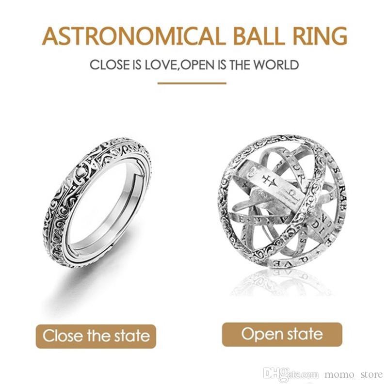 Or US 5 Acreny Bague sph/érique astronomique en Forme de Boule