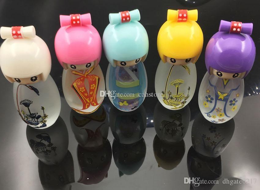 9cm mini Glas Schöne Puppe Alkohol Lampe für den Versand kostenlos Zubehör Shisha bong Wasser Bohrinsel