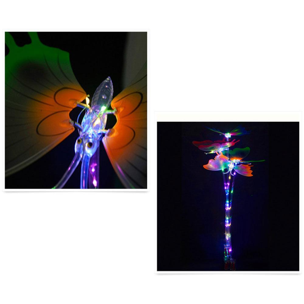 Luz-up 10pcs aniversário dos miúdos borboleta vara do fulgor Wand Magic Ball LED Partido Wands Halloween Chrismas Magia Rave Toy grande presente para