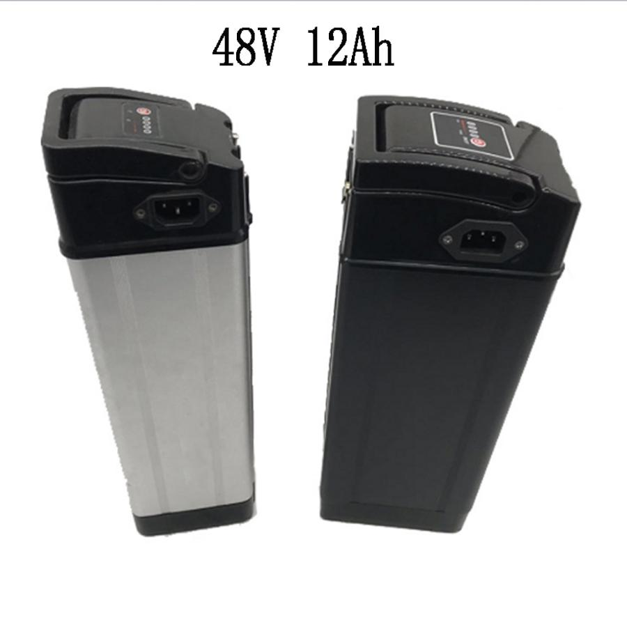 48V12Ah Silver Fish type I алюминиевый корпус литий-ионный аккумулятор с китайской ячейкой 18650 и BMS для электрического велосипеда