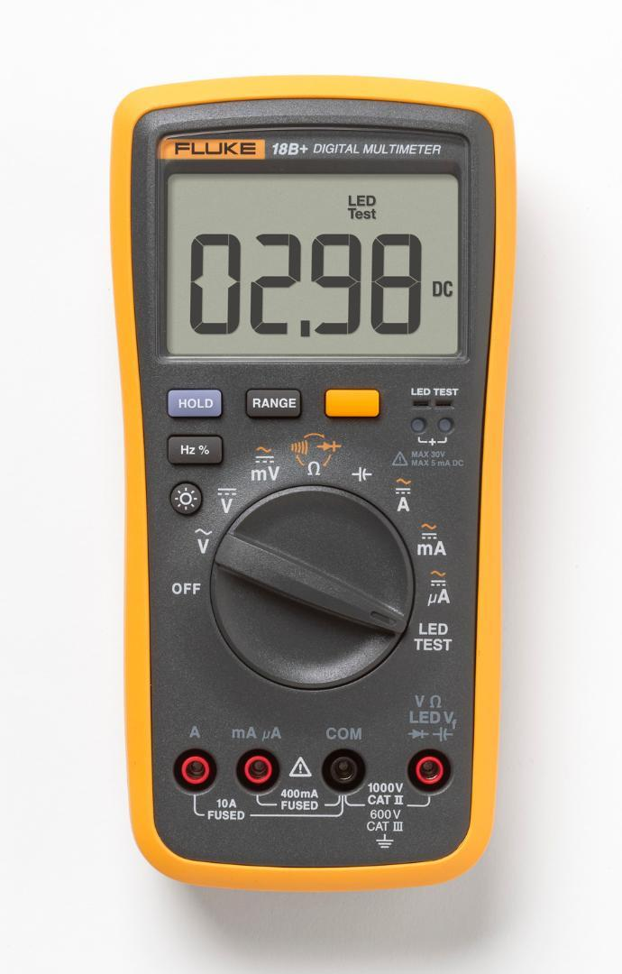 Последний Fluke 18B + плюс AC DC напряжение тока тока цифровой мультиметр DMM с LED DE доставка