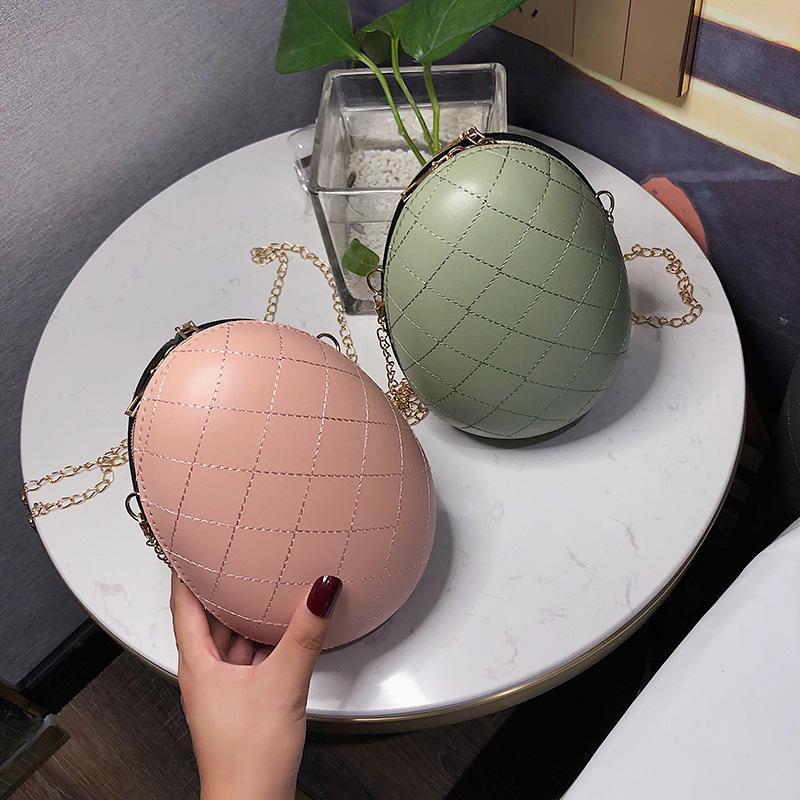 Otoño nuevas bolsas versión coreana del diamante de la cáscara del huevo bolsas bandolera cadena de señoras bolsa de mano diagonal de las mujeres de las mujeres