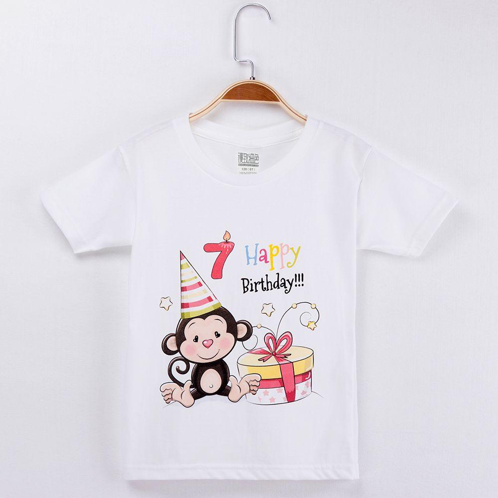 2019 kawaii القرد تي شيرت ملابس عيد للبنين 100٪ ٪ الاطفال الكرتون مجموعة ملابس طفلة قمم الأطفال القمصان ماركة Y19051003