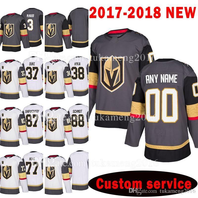 Hommes personnalisés 2018 Vegas Golden Knights 77 Brad Hunt 37 Duke Reid 87 Vadim Chipatchiov Jersey 38 Tomas Hyka 88 Nate Schmidt McNabb Jersey