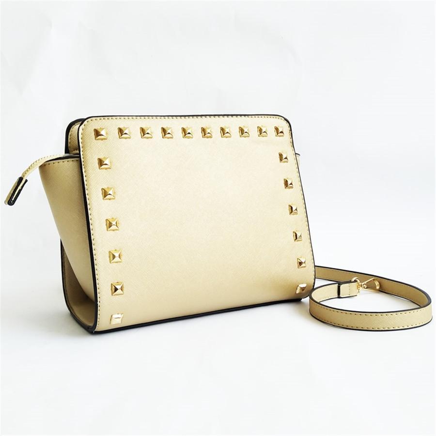 Crossbody 2020 nuevas mujeres de la marca de lujo del diseñador de moda los bolsos de hombro del bolso de las mujeres de la nueva llegada del remache de cuero auténtico de alta calidad bolso # 249