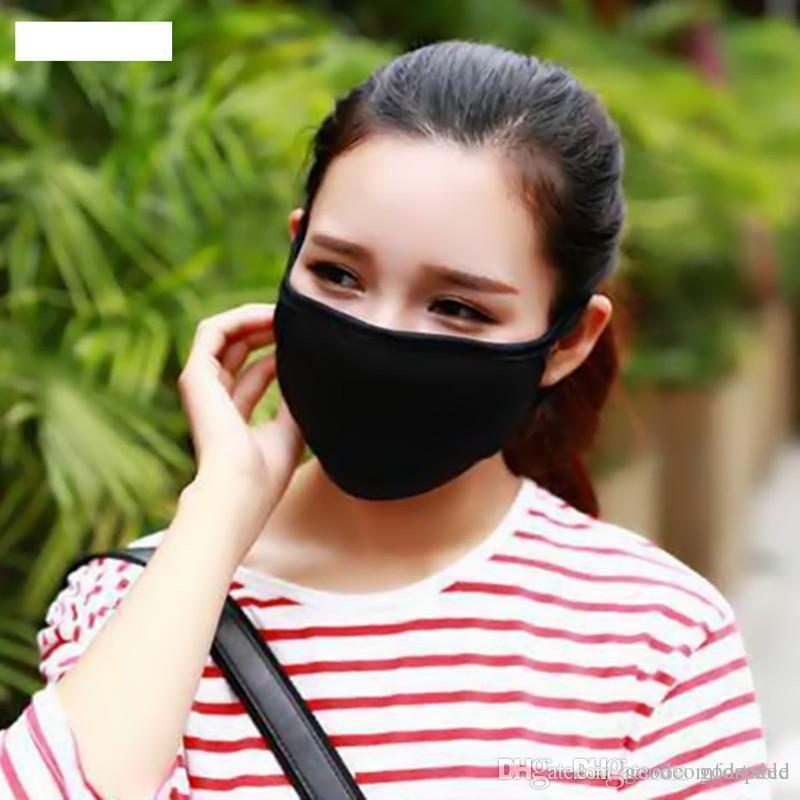 Reutilizável anti-poeira Cotton Mouth Máscara Facial Unisex Homem Mulher Ciclismo usando máscaras preto Moda frete grátis