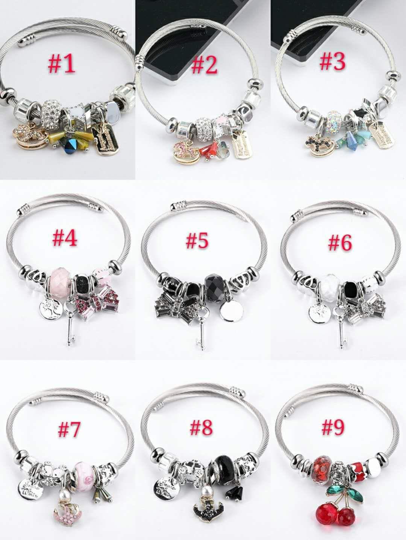 29styles جديد الموضة DIY مصمم مجوهرات سحر الخرز قابل للتعديل نساء أساور هدية عيد الحب اكسسوارات سوار للأطفال