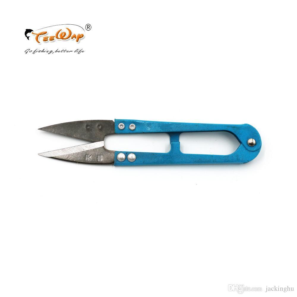 Nouveau produit 3Pcs Utiliser poisson Ciseaux ligne de coupe pêche Ciseaux poignée en plastique avec des couvertures en acier inoxydable Peche outil
