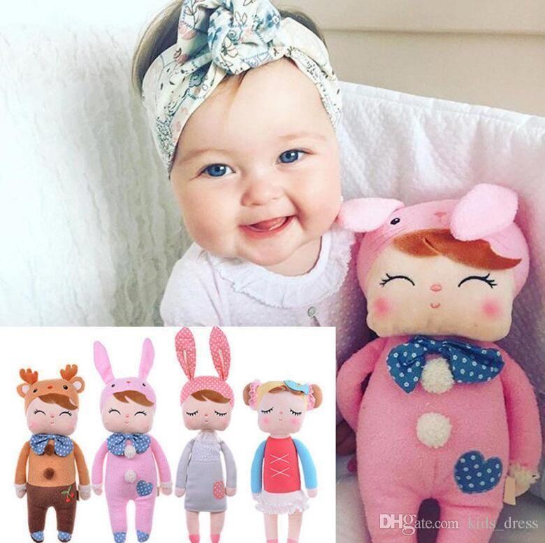 30 см Metoo Плюшевые Куклы Для Новорожденных Детей Angela Rabbit Dolls прекрасный фаршированный PP хлопок Игрушки куклы девушка подарок на день рождения KKA2665