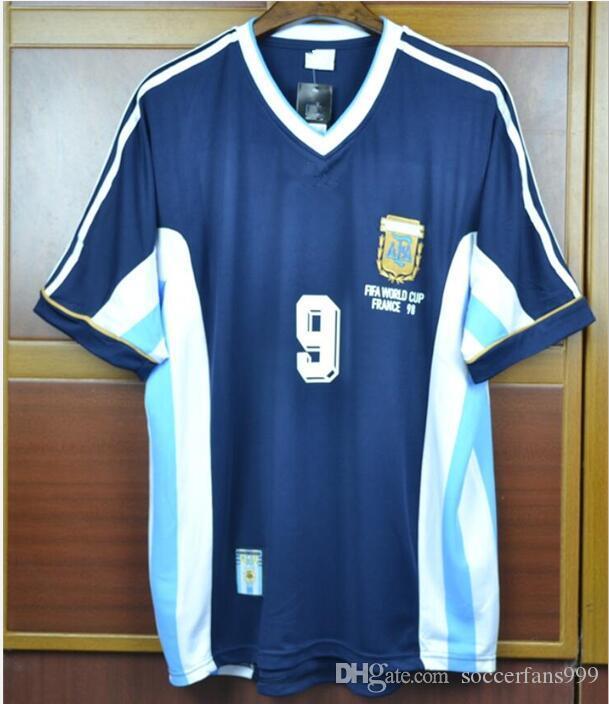 Acquista Retro Soccer Jerseys 1998 Coppa Del Mondo Via Blu Argentina # 9 Batistuta # 10 Maglia Da Calcio Ortega A 31,28 € Dal Soccerfans999 | ...