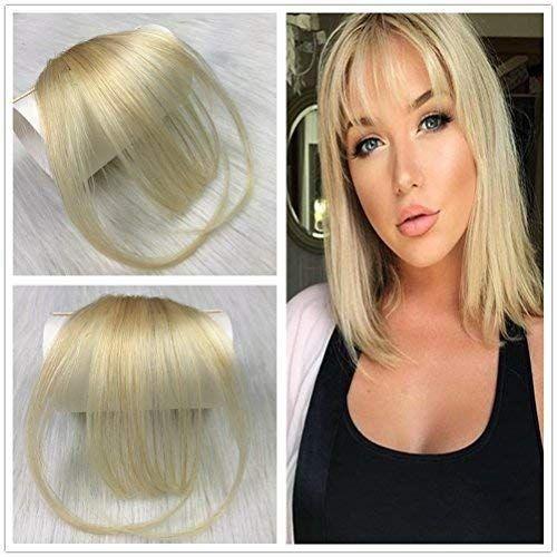 Clip de flequillo de aire puro fino de cabello humano 100% real en peluca coreana con flequillo frontal atado a mano MiNi Hair Bangs Fashion Clip-in Hair Extension