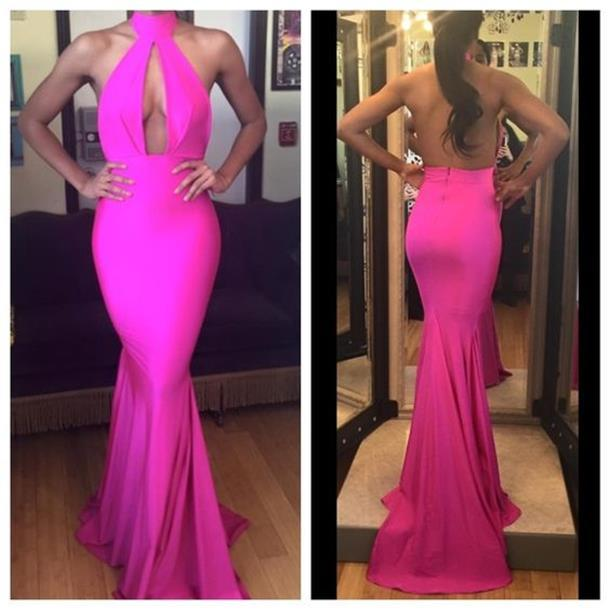 Sexy Backless Mermaid Prom Dresses 2019 Halter Formal Women Special Occasion Dress Vestidos Longo Cheap Dinner Gowns