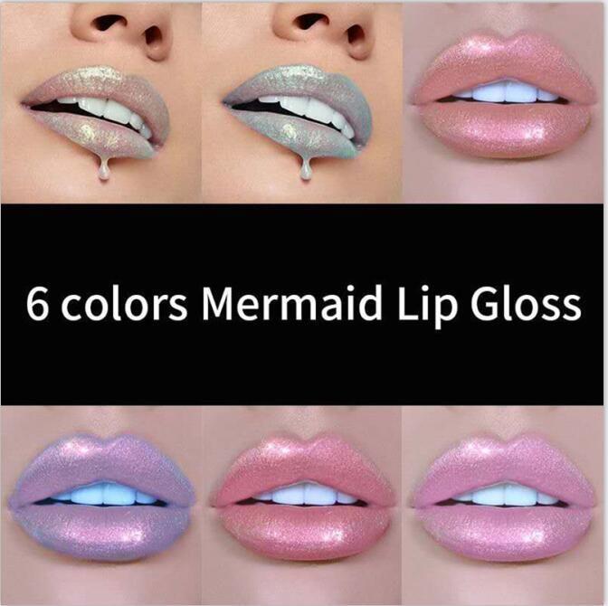 HANDAIYAN 6 цветов Glow Блеск Shimmer русалка Блеск для губ Tint Увлажняющий Водонепроницаемый металла долговечны Жидкий блеск для губ бальзам для губ