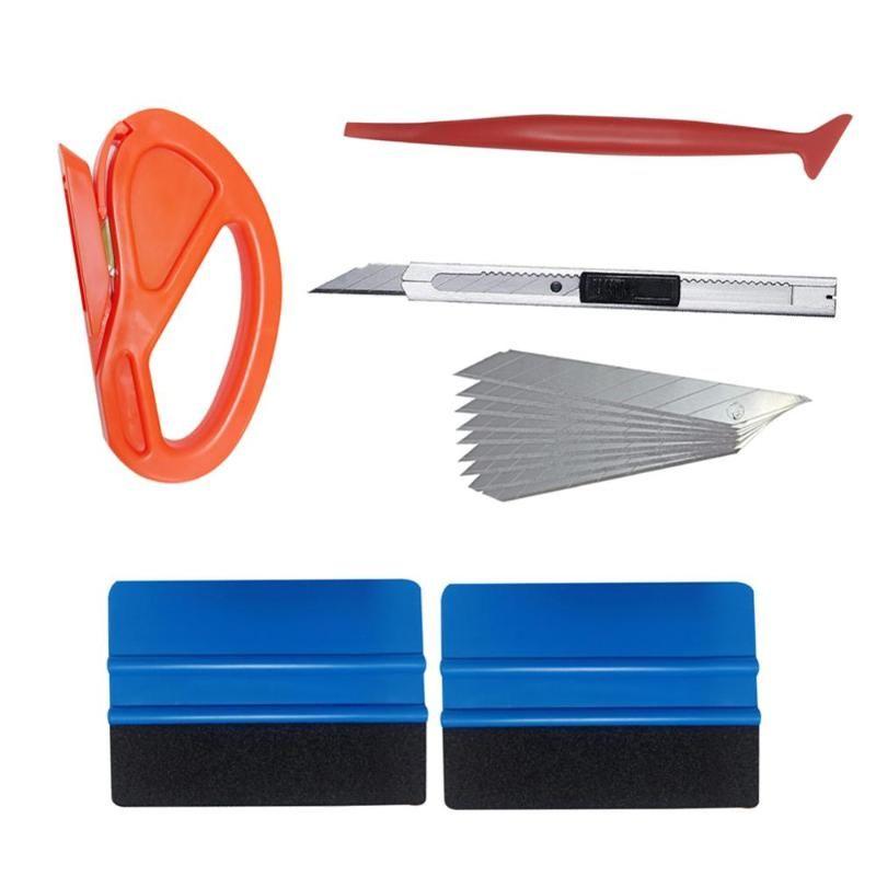 판매 6PCS 자동차 유리 보호 필름 자동차 윈도우 포장 자동차 비닐 포장 응용 프로그램 도구 도매 빠른 배달 CSV