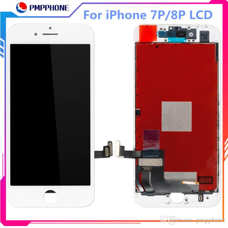 Hoge Tiamma Quality Vervanging voor iPhone 7G 8G 7Plus 8Plus LCD-scherm Touchscreen Wit en Zwart Kleur GRATIS VERZENDING