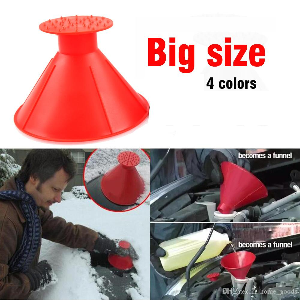 3 Pcs Ice Scraper Snow Mitt Windscreen For Car Red Blue Black Scrapers Value Set