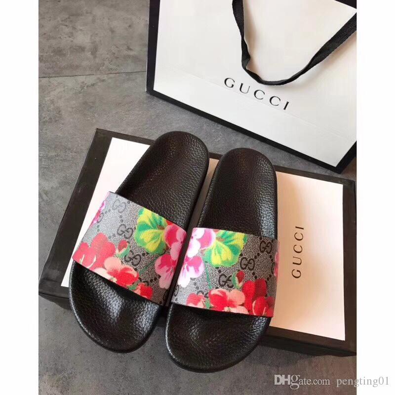 Мягкий бренд мокасины мужские слайд сандалии Тигр печати женские кожаные цветы тапочки крытый и открытый с быстрой доставкой
