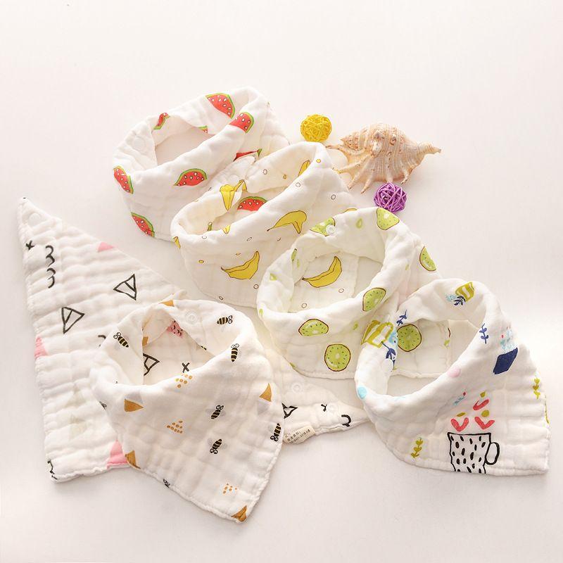 Bébé Baby Dessinateurs Sous Beaves Burp Tissu Choses à imprimé Foral Coton 8 Couches Bands Bandana pour bébé Toile Triangle Triangle Triangle 15styles GGA2024