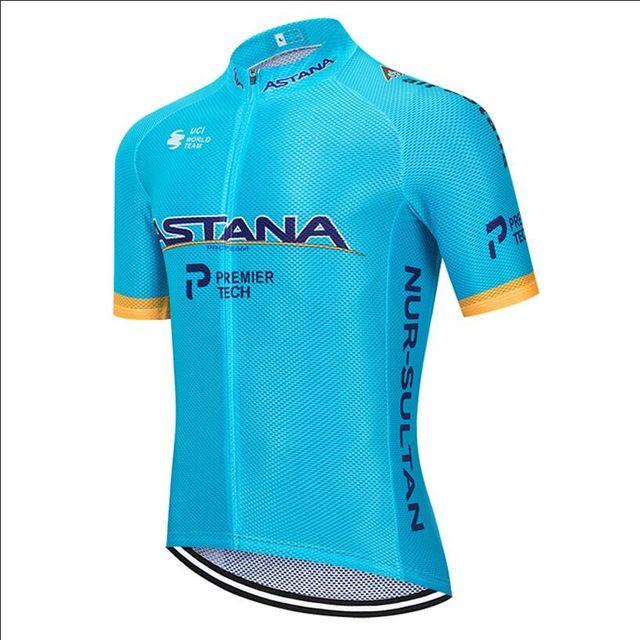 Tour de France 2020 Pro Team ASTANA Faire du vélo Vêtements Maillot été Respirant Maillot VTT Ropa Ciclismo