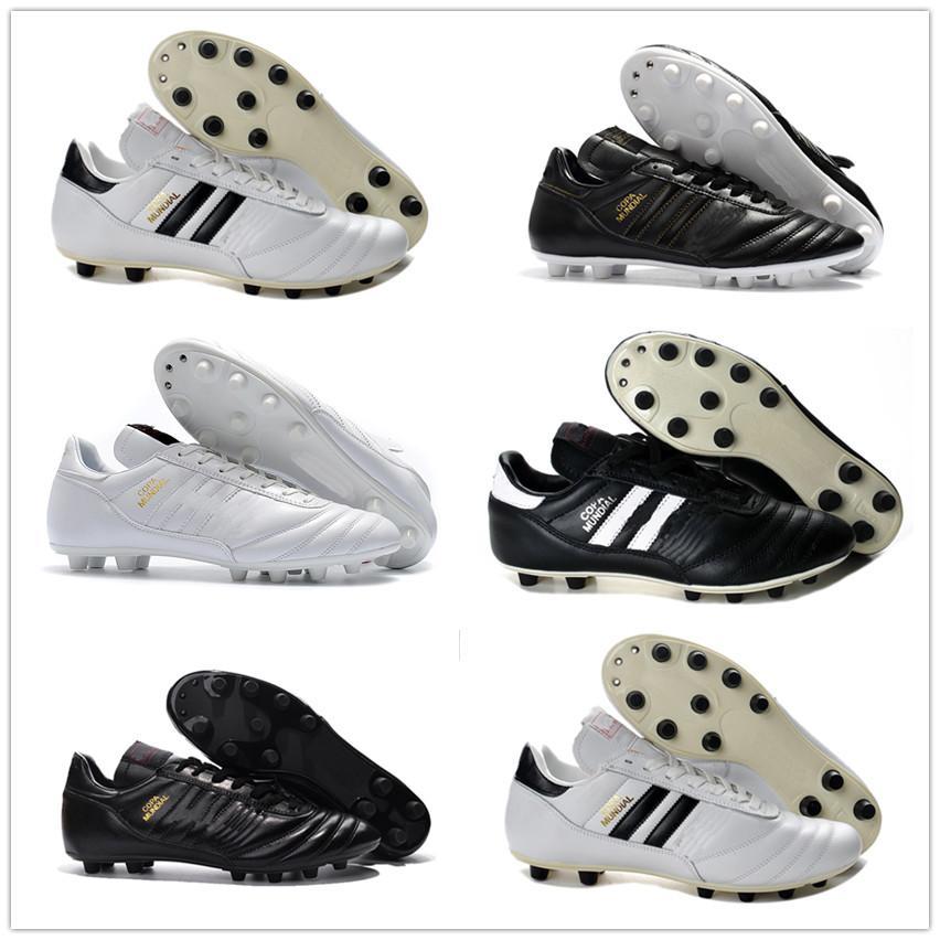 2020 nuevos zapatos de la Copa Mundial de Fútbol FG para hombre blancas Made in Germany ligero FG Tacos de fútbol impermeables zapatos de fútbol más baratas