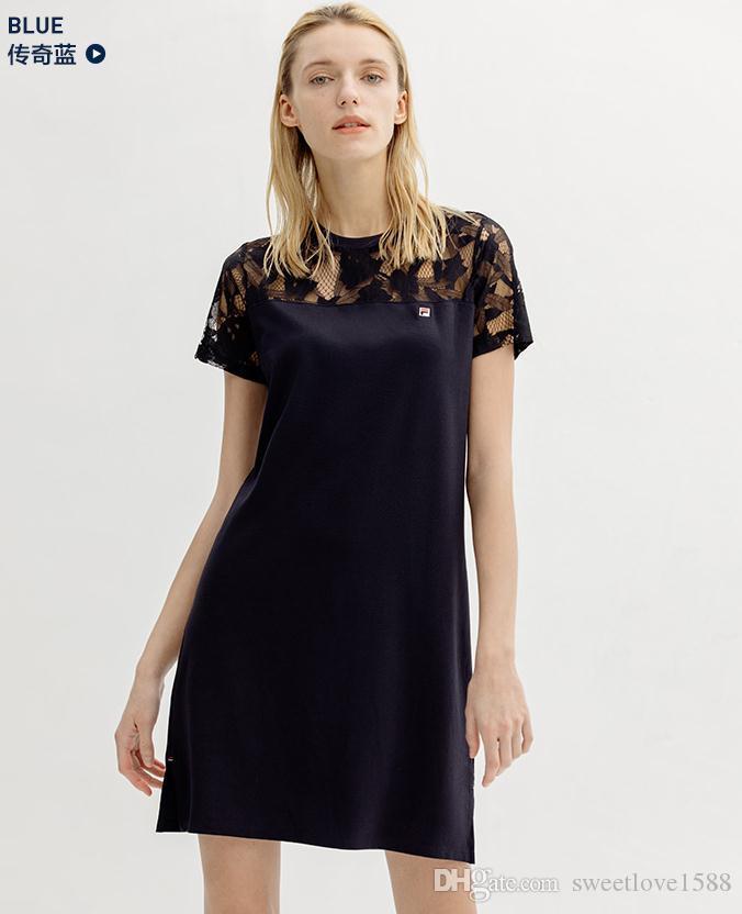 Sommer-Designer Frauen sportwear Tops Damenmode Hülse kurze beiläufige Spitze Kleider Röcke Frauen Strickkleid