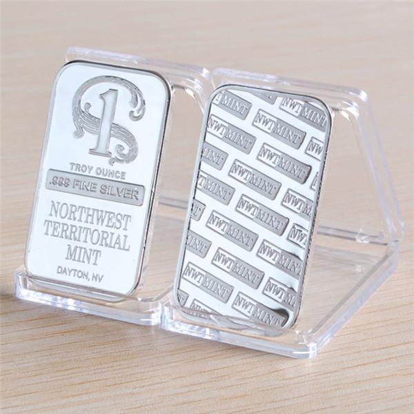 1 oz Kuzeybatı Bölgesel Nane Gümüş Bar - El Sanatları, Hediye, No Manyetizma Ücretsiz Kargo 20pcs / lot