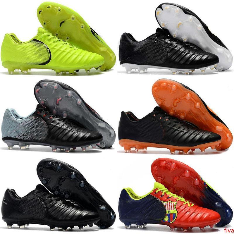 جديد وصول تيمبو السابع الأسطورة FG 7 CR7 أحذية للجودة عالية أبيض أسود برتقالي أحمر أخضر رجل إمرأة لكرة القدم لكرة القدم أحذية حجم 36-45