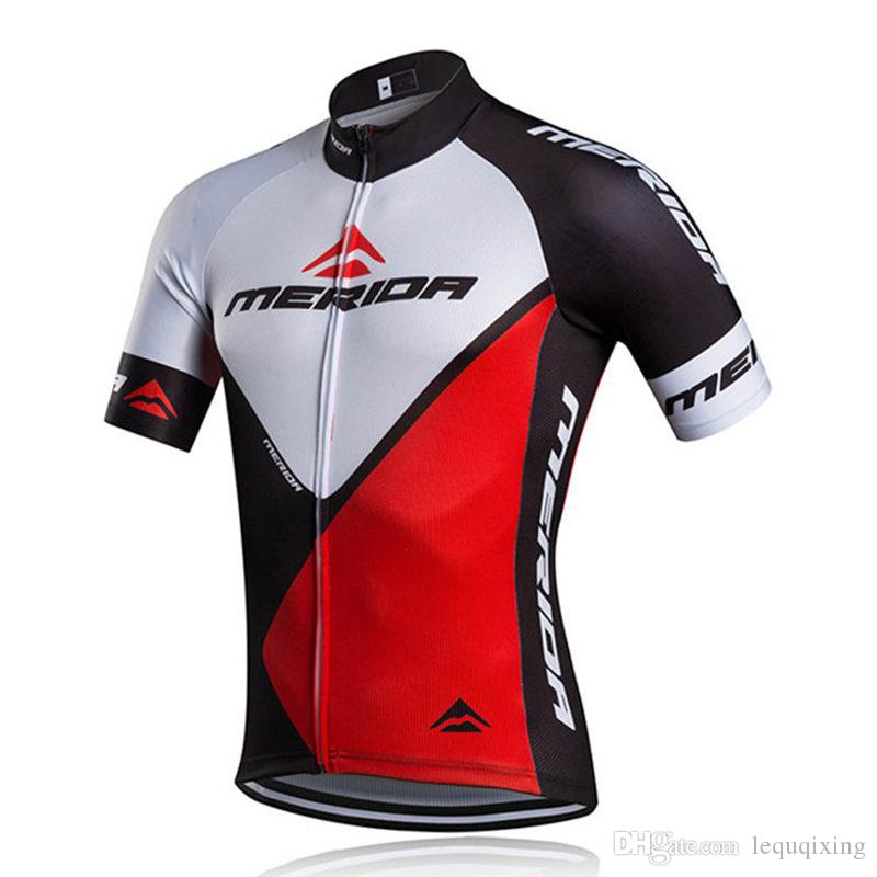 2020 Merida Men Cycling Jersey Camicia a manica corta Estate Tour de France Cycling Abbigliamento Bike Sportswear Ropa Ciclismo Bici Vestiti C0703